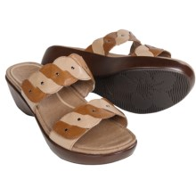 Dansko Dee Leather Sandals (For Women) in Caramel/Sand Full Grain - Closeouts