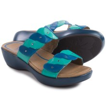 Dansko Dee Leather Sandals (For Women) in Cobalt/Turquoise Full Grain - Closeouts