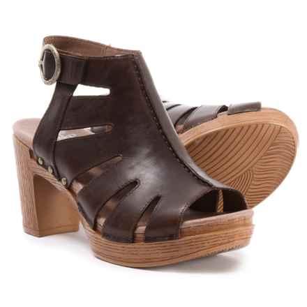 Dansko Demetra Sandals (For Women) in Teak Vintage Pull Up - Closeouts