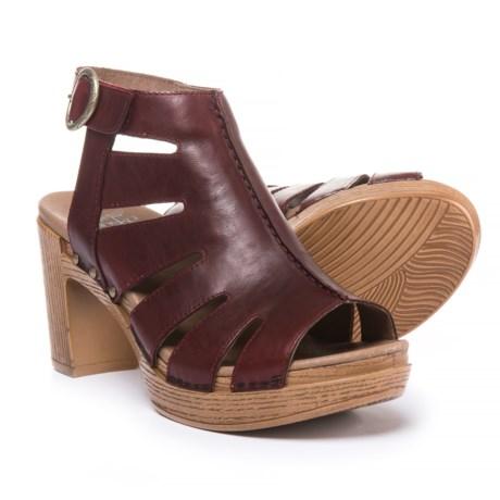 Dansko Demetra Sandals - Leather (For Women) in Ruby Vintage