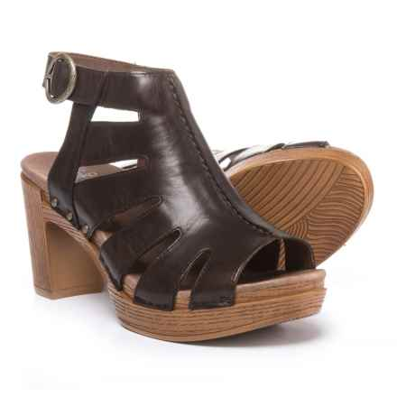 Dansko Demetra Sandals - Leather (For Women) in Teak - Closeouts