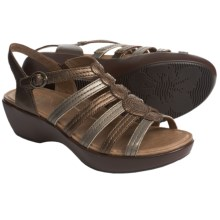 Dansko Drea Leather Sandals (For Women) in Metallic Multi - Closeouts