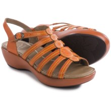 Dansko Drea Leather Sandals (For Women) in Tangerine Full Grain - Closeouts