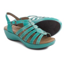 Dansko Drea Leather Sandals (For Women) in Turquoise Full Grain - Closeouts
