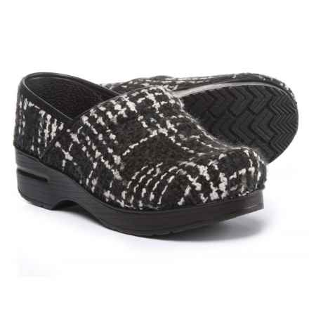Dansko Fabric Pro Clogs - Closed Back (For Women) in Black Texture - Closeouts