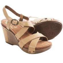 Dansko Frida Wedge Sandals (For Women) in Sand Antique Full Grain - Closeouts