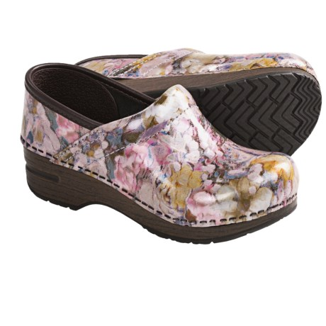 Dansko Gitte Clogs (For Girls) in Pastel Bouquet