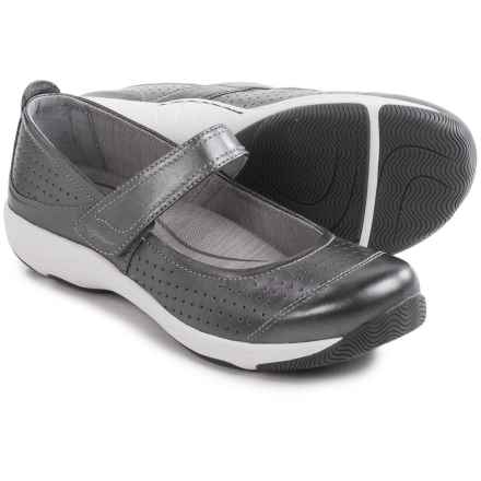 Dansko Hadley Mary Jane Shoes - Leather (For Women) in Pewter Metallic - Closeouts