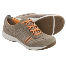 Dansko Helen Lace Shoes - Suede (For Women) in Mocha/Citrus Suede - Closeouts