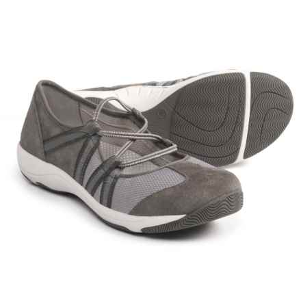 Dansko Honey Athletic Mary Jane Shoes - Slip-Ons (For Women) in Charcoal Suede - Closeouts
