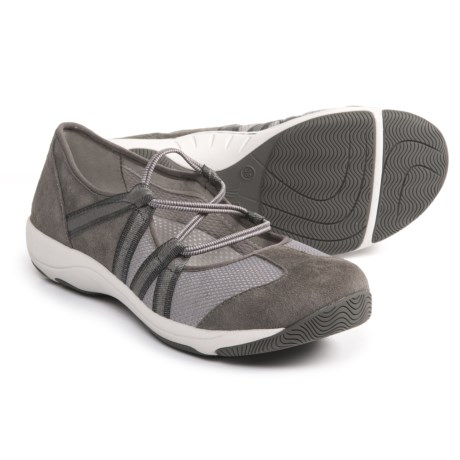 Dansko Honey Athletic Mary Jane Shoes - Slip-Ons (For Women) in Charcoal Suede