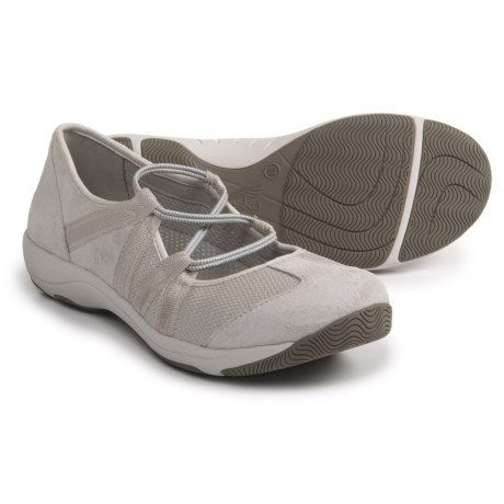 Dansko Honey Athletic Mary Jane Shoes - Slip-Ons (For Women) in Ivory Suede
