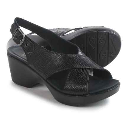 Dansko Jacinda Sling-Back Sandals - Leather (For Women) in Black Snake - Closeouts