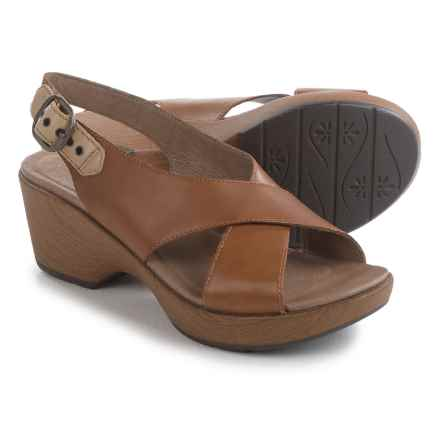 Dansko Jacinda Sling-Back Sandals - Leather (For Women) in Caramel Full Grain - Closeouts