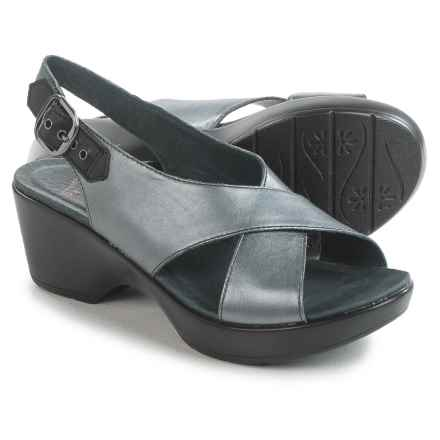 Dansko Jacinda Sling-Back Sandals - Leather (For Women) in Pewter Metallic - Closeouts