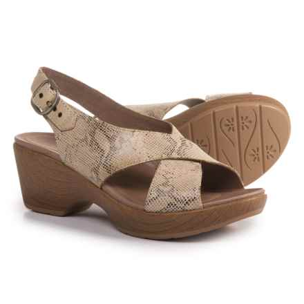 Dansko Jacinda Slingback Sandals - Leather (For Women) in Taupe Snake - Closeouts