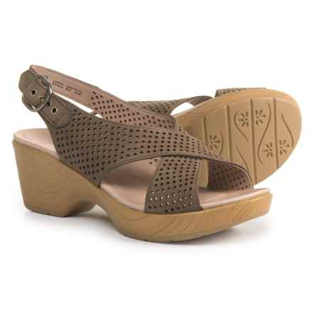 Dansko Jacinda Slingback Sandals - Leather (For Women) in Walnut Nubuck - Closeouts