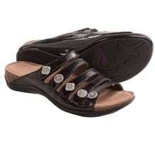 Dansko Janie Sandals - Leather (For Women) in Black Patent - Closeouts