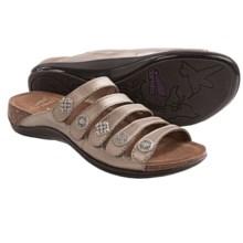 Dansko Janie Sandals - Leather (For Women) in Pewter Metallic - Closeouts