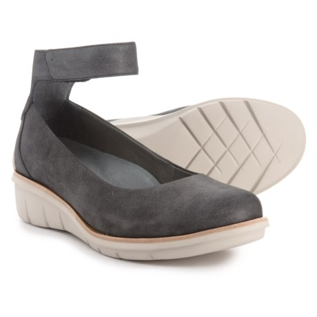 Dansko Jenna Wedge Ballet Shoes - Leather (For Women) in Charcoal