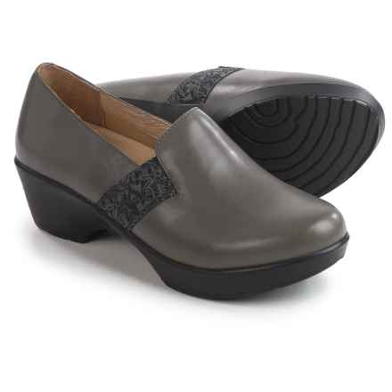 Dansko Jessica Closed-Back Clogs - Leather, Side Goring (For Women) in Grey Nappa - Closeouts