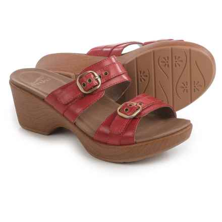 Dansko Jessie Sandals - Leather (For Women) in Red Full Grain - Closeouts