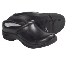 Dansko Kari Open-Back Clogs - Leather (For Women) in Black Pull Up - Closeouts