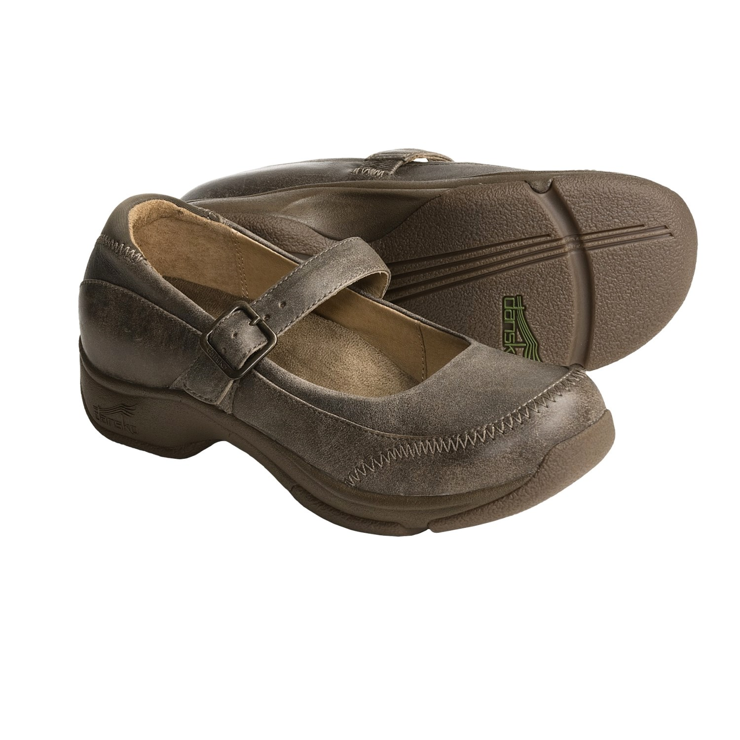 Dansko Kate Mary Jane Shoes (For Women) in Stone Distressed