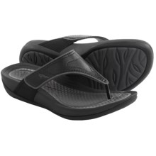 Dansko Katy Flip-Flops (For Women) in Black/Grey Smooth - Closeouts