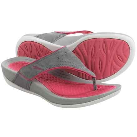 Dansko Katy Flip-Flops (For Women) in Grey/Pink - Closeouts