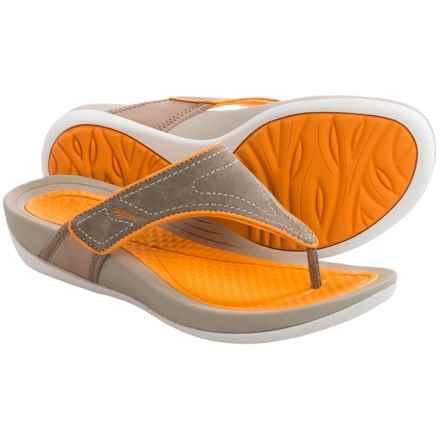 Dansko Katy Flip-Flops (For Women) in Mocha/Citrus - Closeouts