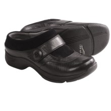 Dansko Kaya Clogs - Leather-Suede (For Women) in Black - Closeouts