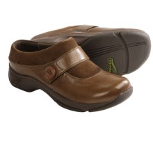 Dansko Kaya Clogs - Leather-Suede (For Women) in Chocolate - Closeouts