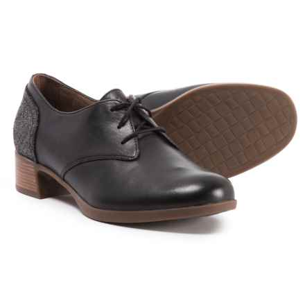 Dansko Louise Oxford Shoes (For Women) in Black Burnished Nappa - Closeouts