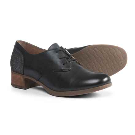 Dansko Louise Shoes - Leather (For Women) in Black Burnished - Closeouts