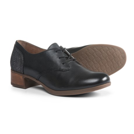 Dansko Louise Shoes - Leather (For Women) in Black Burnished