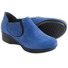 Dansko Lynn Leather Shoes (For Women) in Blue Nubuck - Closeouts
