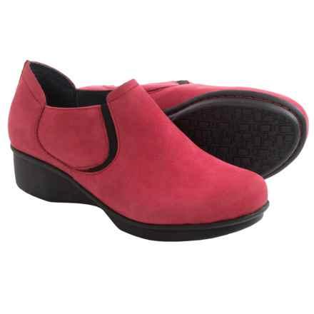 Dansko Lynn Leather Shoes (For Women) in Red Nubuck - Closeouts
