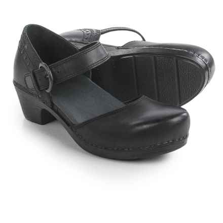Dansko Makenna Mary Jane Platform Shoes - Leather (For Women) in Black - Closeouts