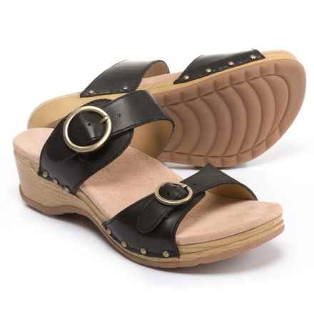 Dansko Manda Sandals - Leather (For Women) in Black - Closeouts