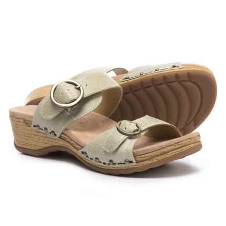 Dansko Manda Sandals - Leather (For Women) in Oyster - Closeouts