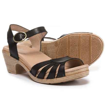 Dansko Marlow Sandals - Leather (For Women) in Black - Closeouts