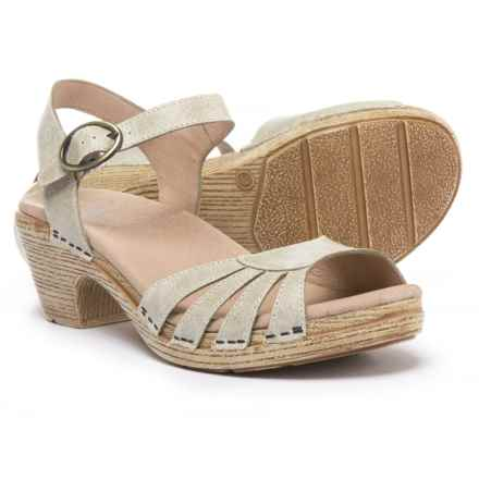 Dansko Marlow Sandals - Leather (For Women) in Oyster - Closeouts