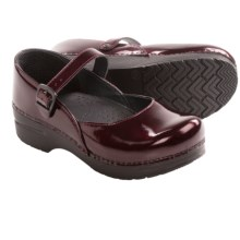 Dansko Mary Jane Shoes - Leather (For Women) in Black Cherry - Closeouts