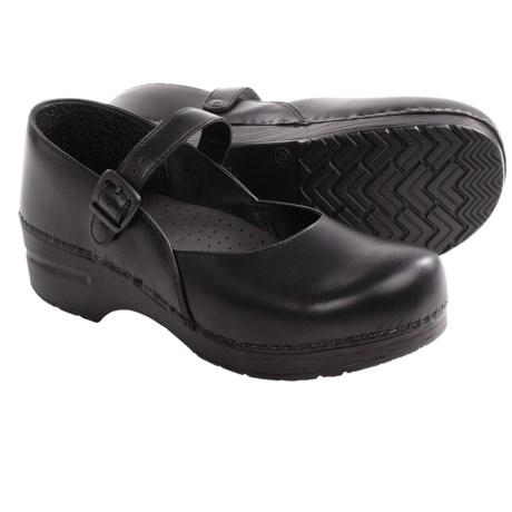 Dansko Mary Jane Shoes - Leather (For Women) in Ebony