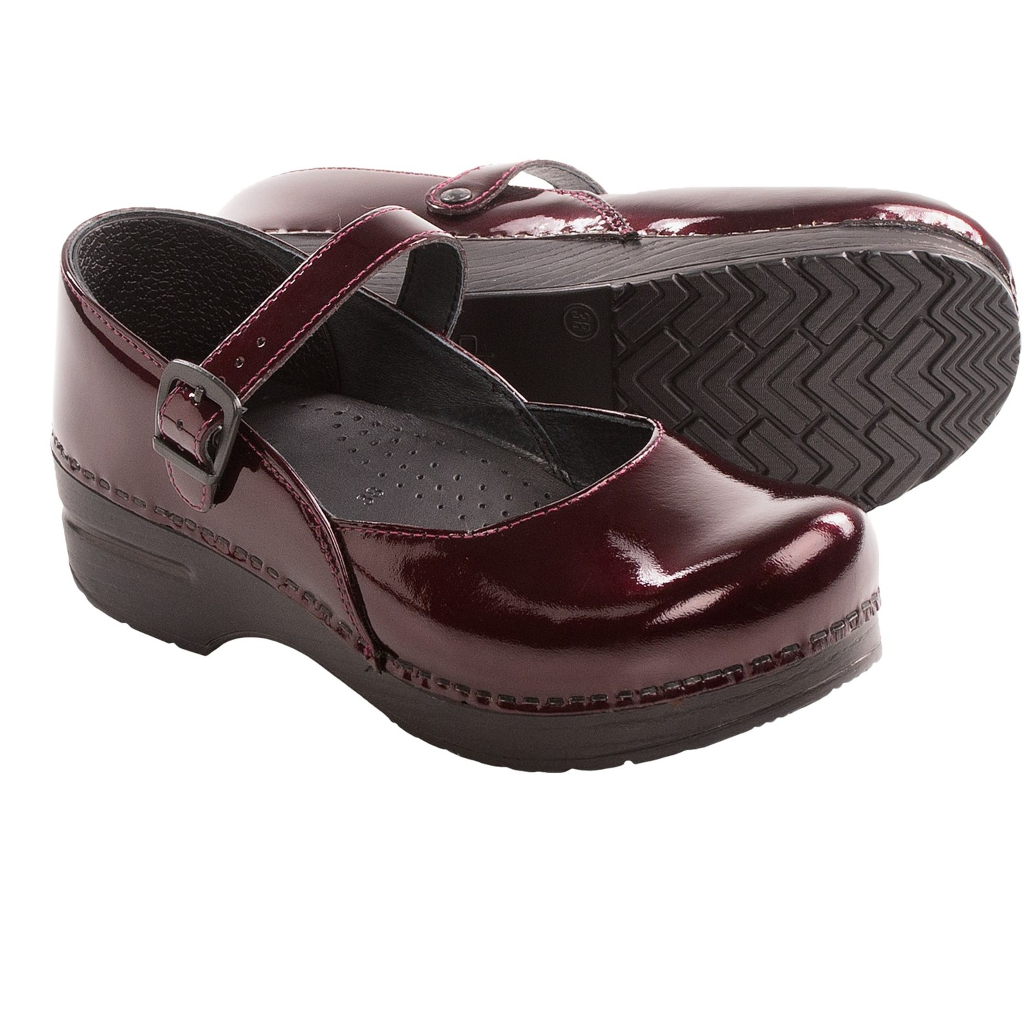 Dansko Mary Jane Shoes - Patent Leather (For Women) in Black Cherry