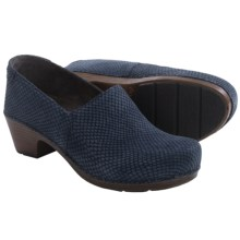 Dansko Mavis Clogs - Leather (For Women) in Blue Snake - Closeouts