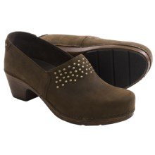 Dansko Mavis Clogs - Leather (For Women) in Brown Milled Nubuck - Closeouts