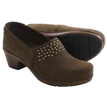 Dansko Mavis Clogs - Leather (For Women) in Brown Milled Nubuck - Closeouts