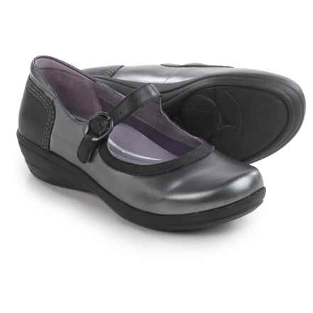 Dansko Misty Mary Jane Shoes - Leather (For Women) in Pewter Metallic Nappa - Closeouts